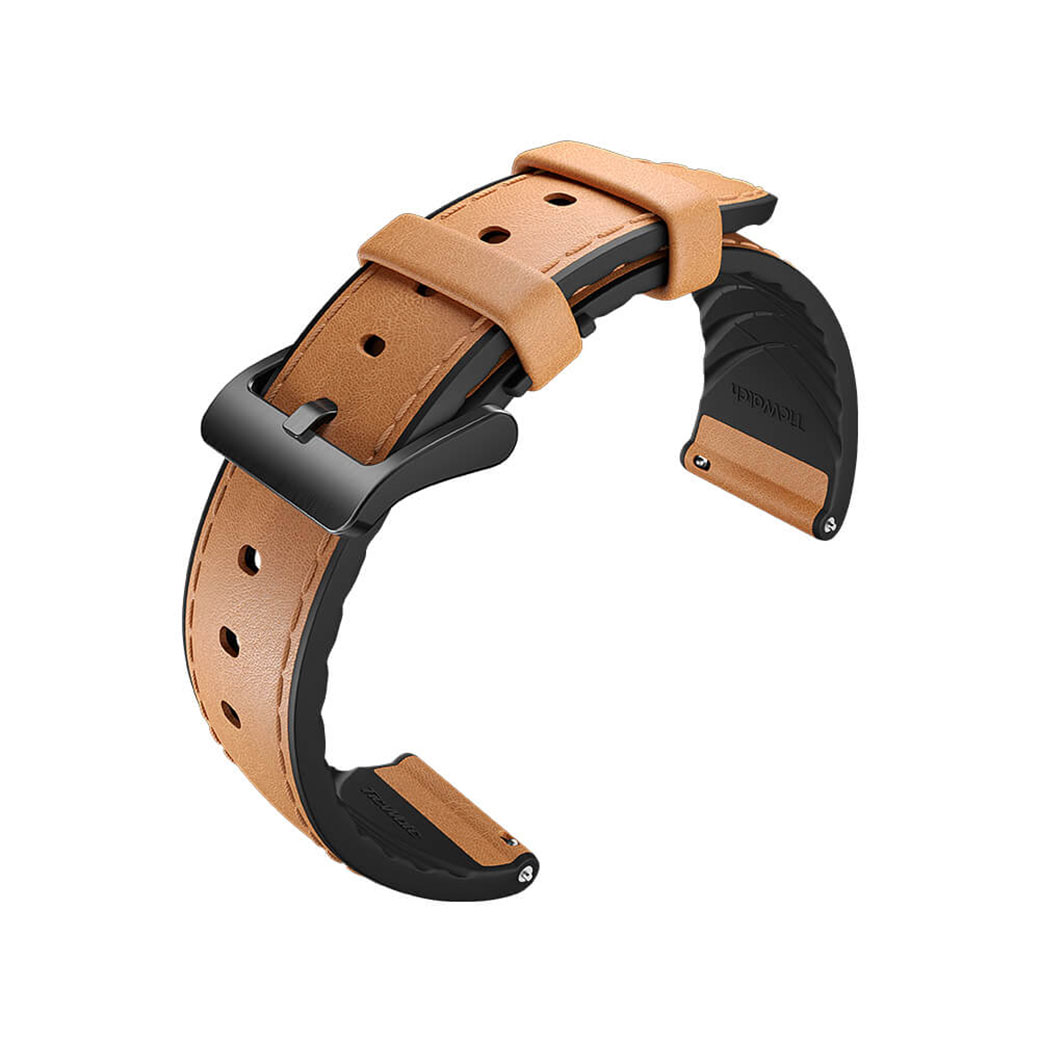 TicWatch Pro/S2/E2 Leather watch strap brown